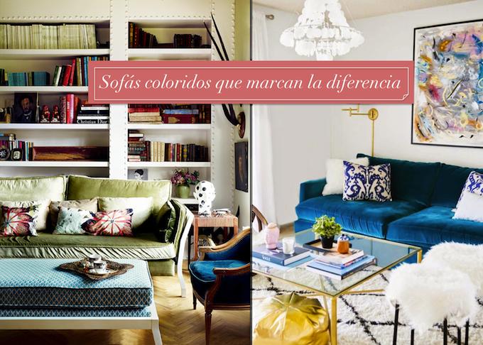 sofas de colores