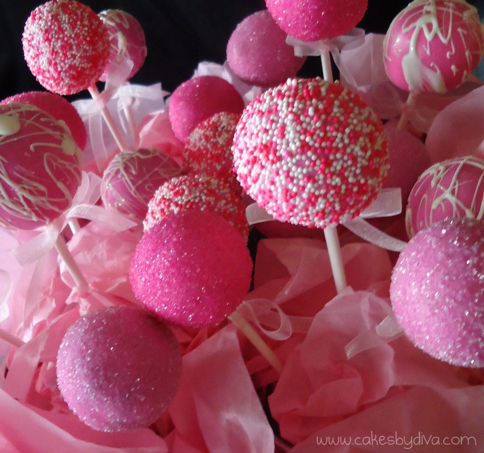 Cake Pop World.: Pink Cake Pops