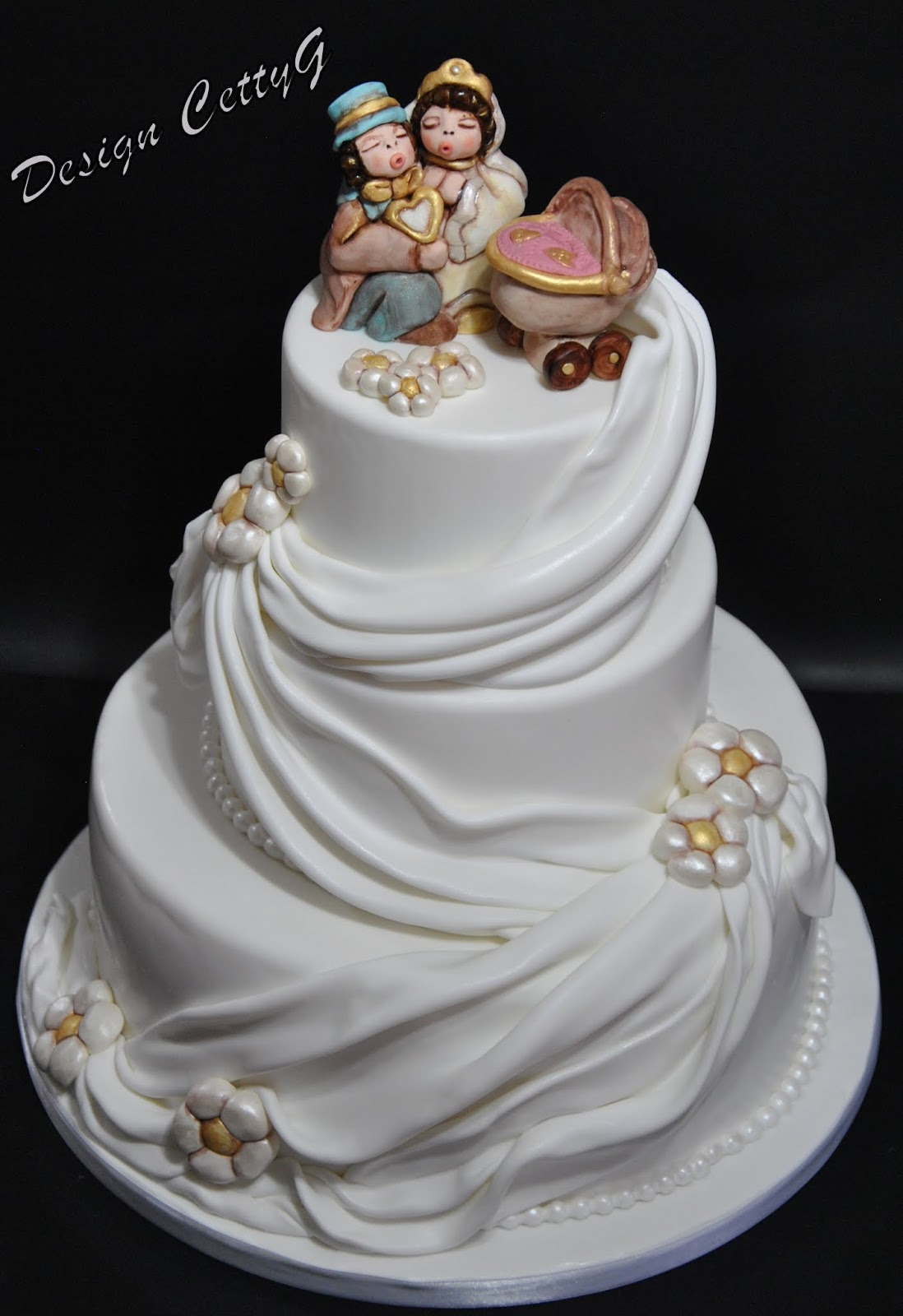 Estremamente Le torte decorate di Cetty G: Wedding cake stile thun. MX83