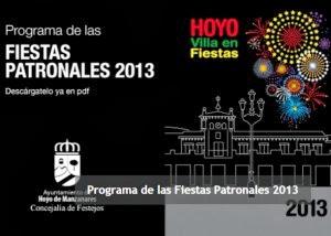 Programa de Fiestas 2013 Hoyo de Manzanares