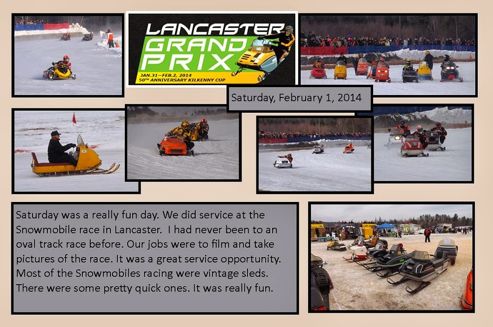 February 1, 2014 Snowmobile Race