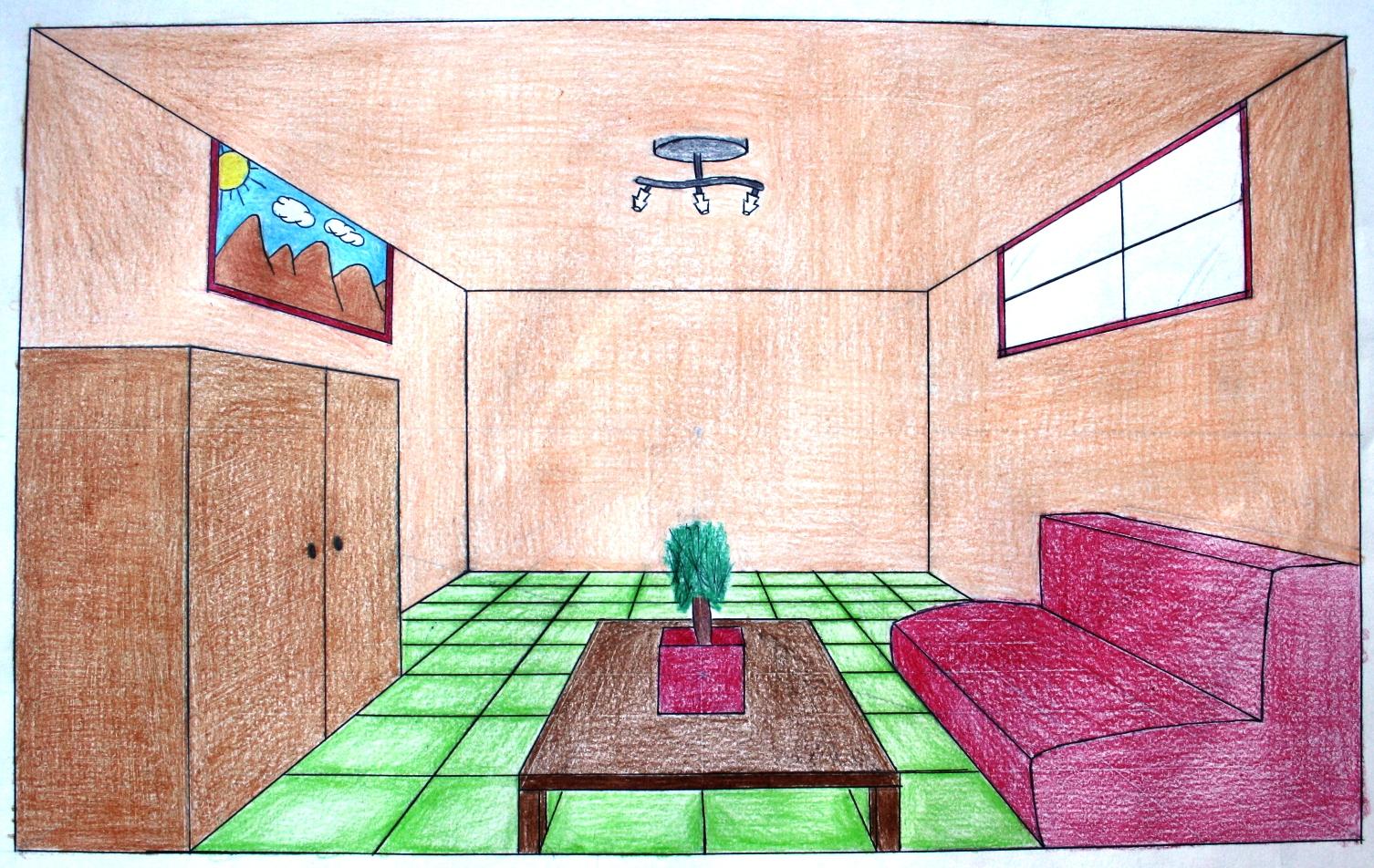 Trabajos de 4 de eso la perspectiva c nica for Disena tu habitacion online