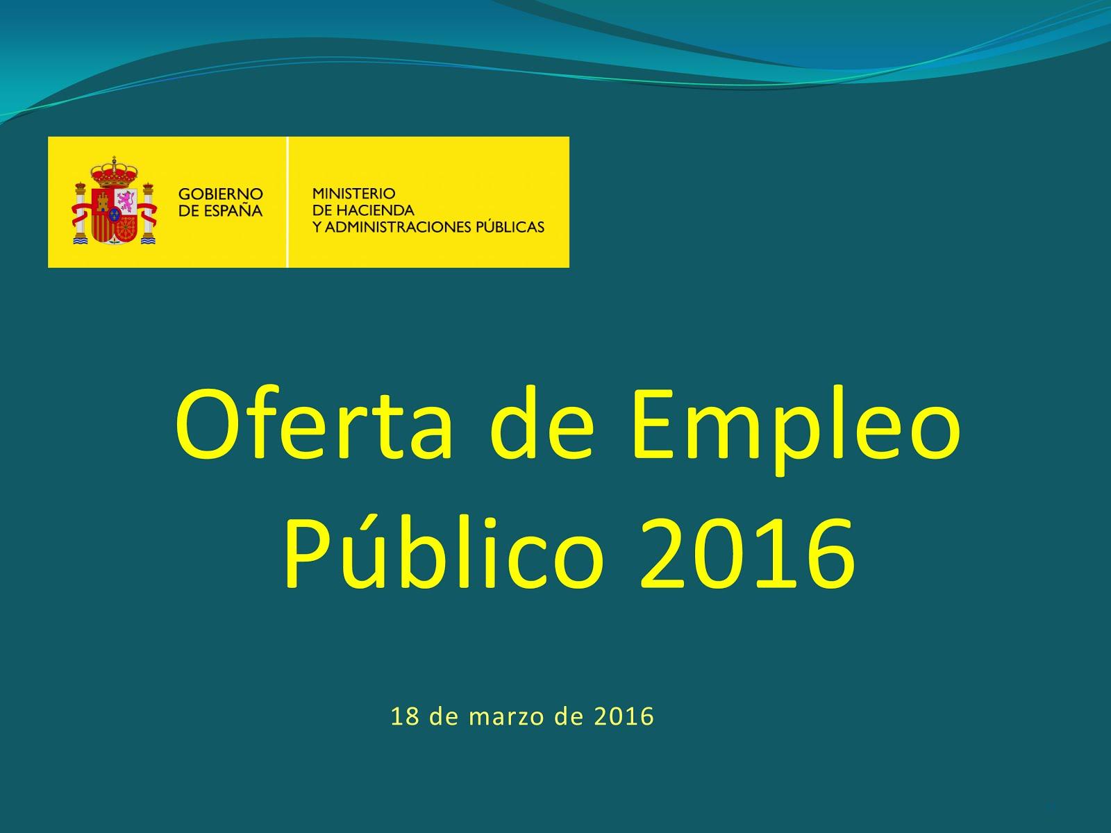 OFERTA DE EMPLEO PÚBLICO 2016