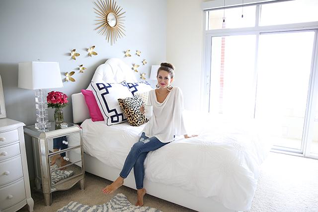 Southern Curls Pearls Bedroom Reveal – Kate Spade Bedroom