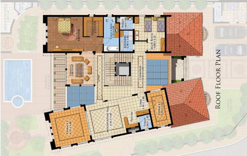 Three Story Villa Details 750 Msq In Saudi Arabia