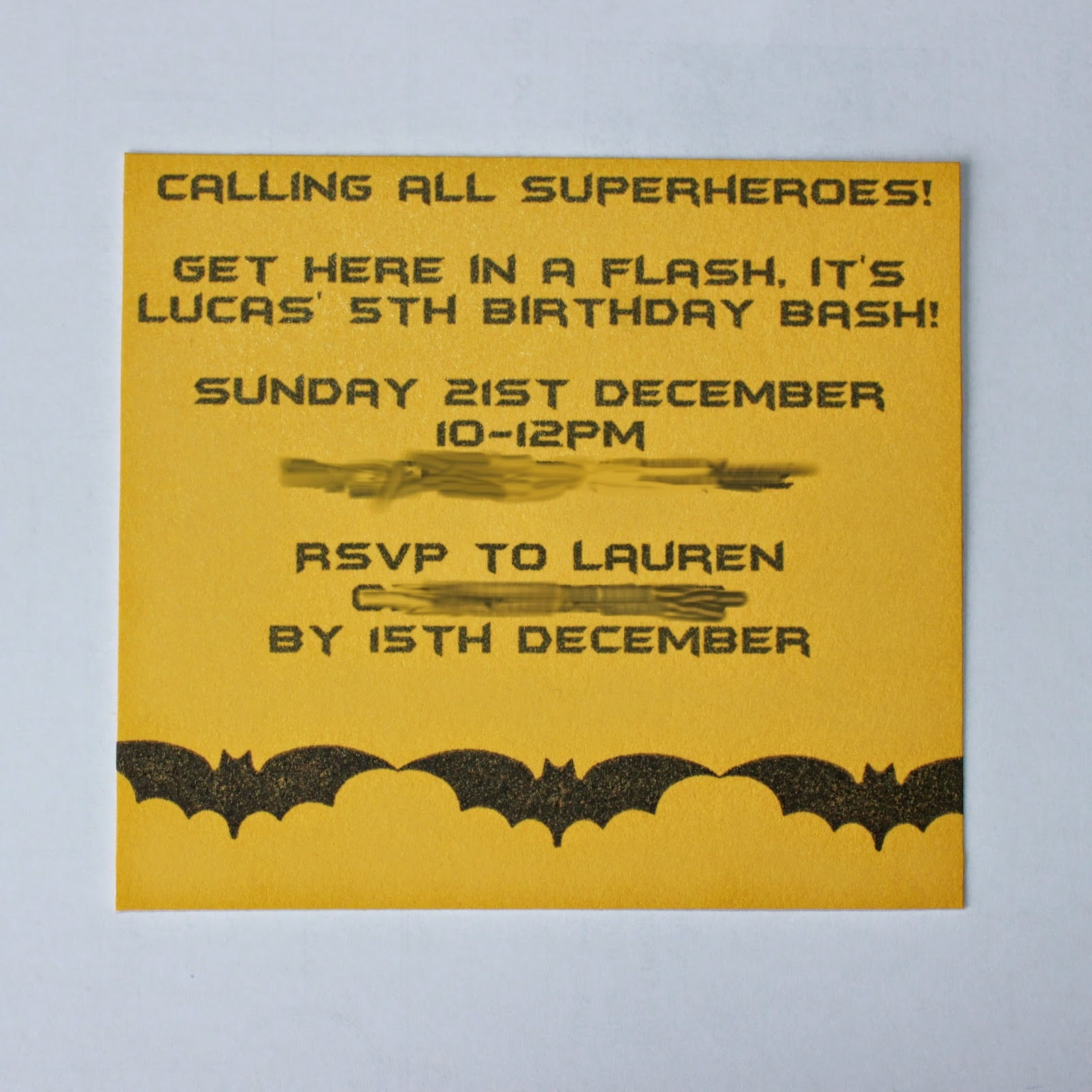 SAHM I am- Stay At Home Mum: Batman Birthday Invitations