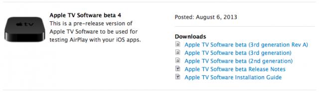 Apple TV Software Beta 4
