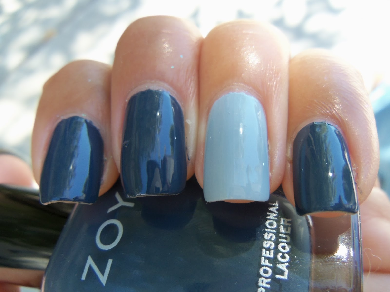 If Nails Make You Happy...: Zoya Natty Almost-French-Ish Nails