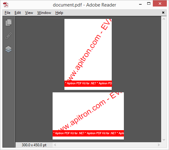Pic. 1 PDF document with mixed page sizes (fixed layout)