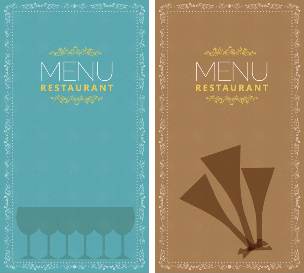 レストラン メニューの表紙デザイン restaurant menu イラスト素材