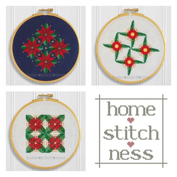 Pohutukawa Red Flowering Gum Christmas Cross Stitch Patterns by homestitchness