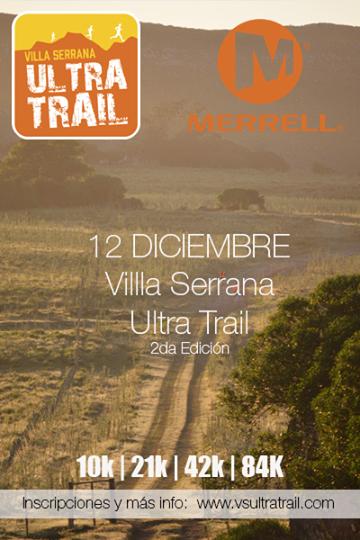 Ultra trail de Villa Serrana (10k, 21k, 42k, 84k; Lavalleja, 12/dic/2015)