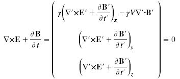 transformed second Maxwell equation