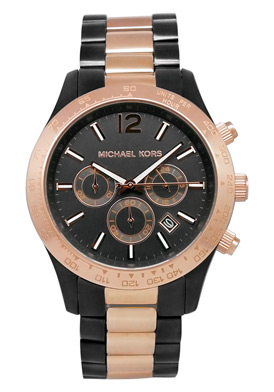 insync watches swr18 michael kors men s black dial two tone watch send us a message on insyncwatches pot com twitter twitter com insyncwatches or