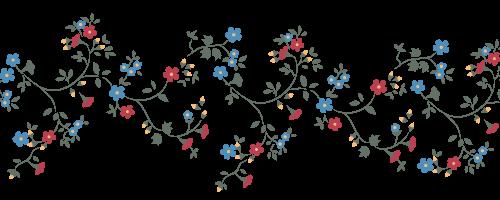 Papier peint motif floral - Frise papier peint chantemur ...