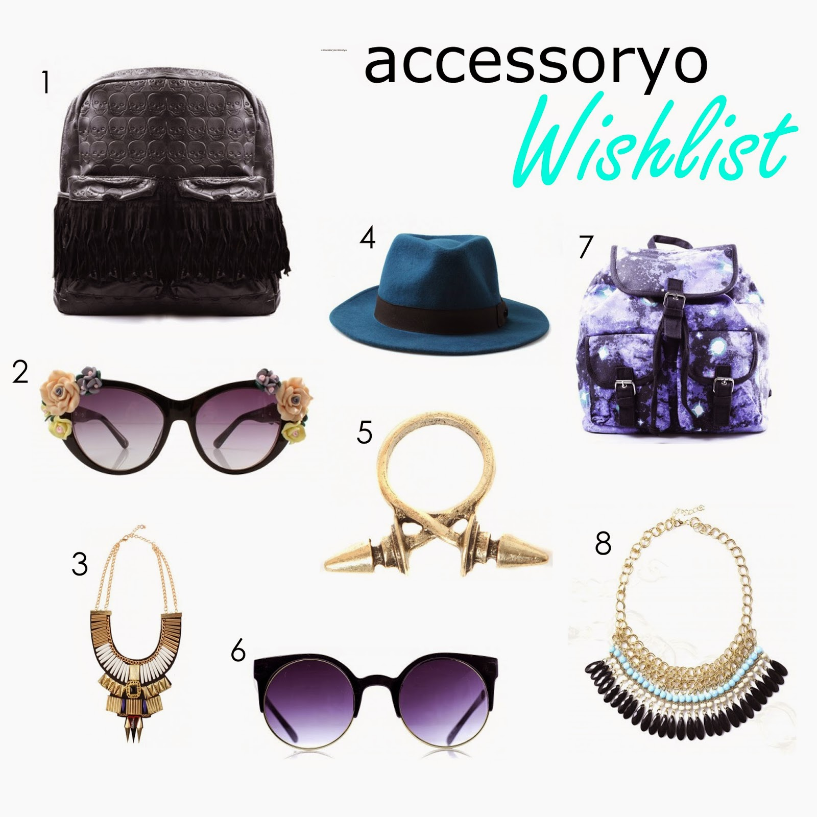 accessoryo, accessories, cat eye sunglasses, statement necklace, alternative girl, alternative fashion, alternative style, hipster, indie, hipster fashion, indie fashion, backpack