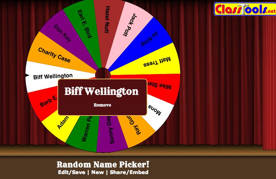 random name picker for contest