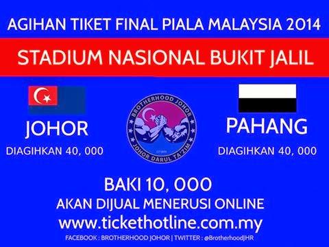 Info Tiket Final Piala Malaysia 2014
