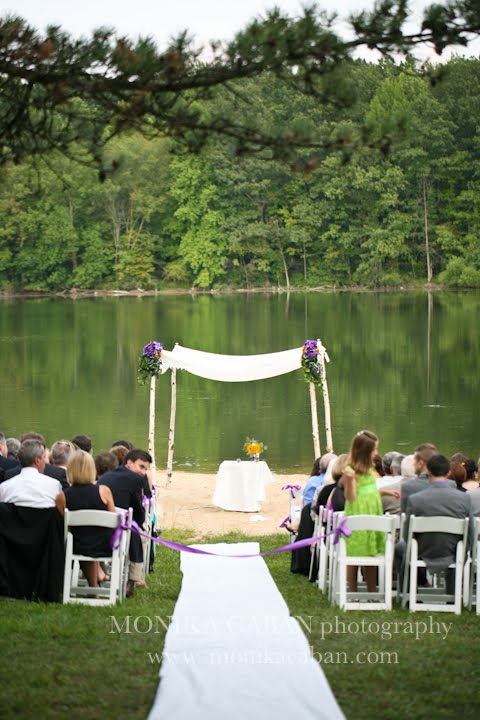 Private lake wedding SW Michigan