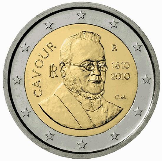 2 Euro Commemorative Coins Italy 2010 Camillo Benso