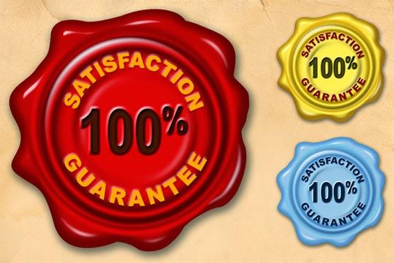 Satisfaction Guarantee Wax Seal