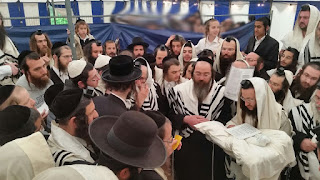 Rav Chaim Elozor Brandsdorfer with Rav Berland in Holland