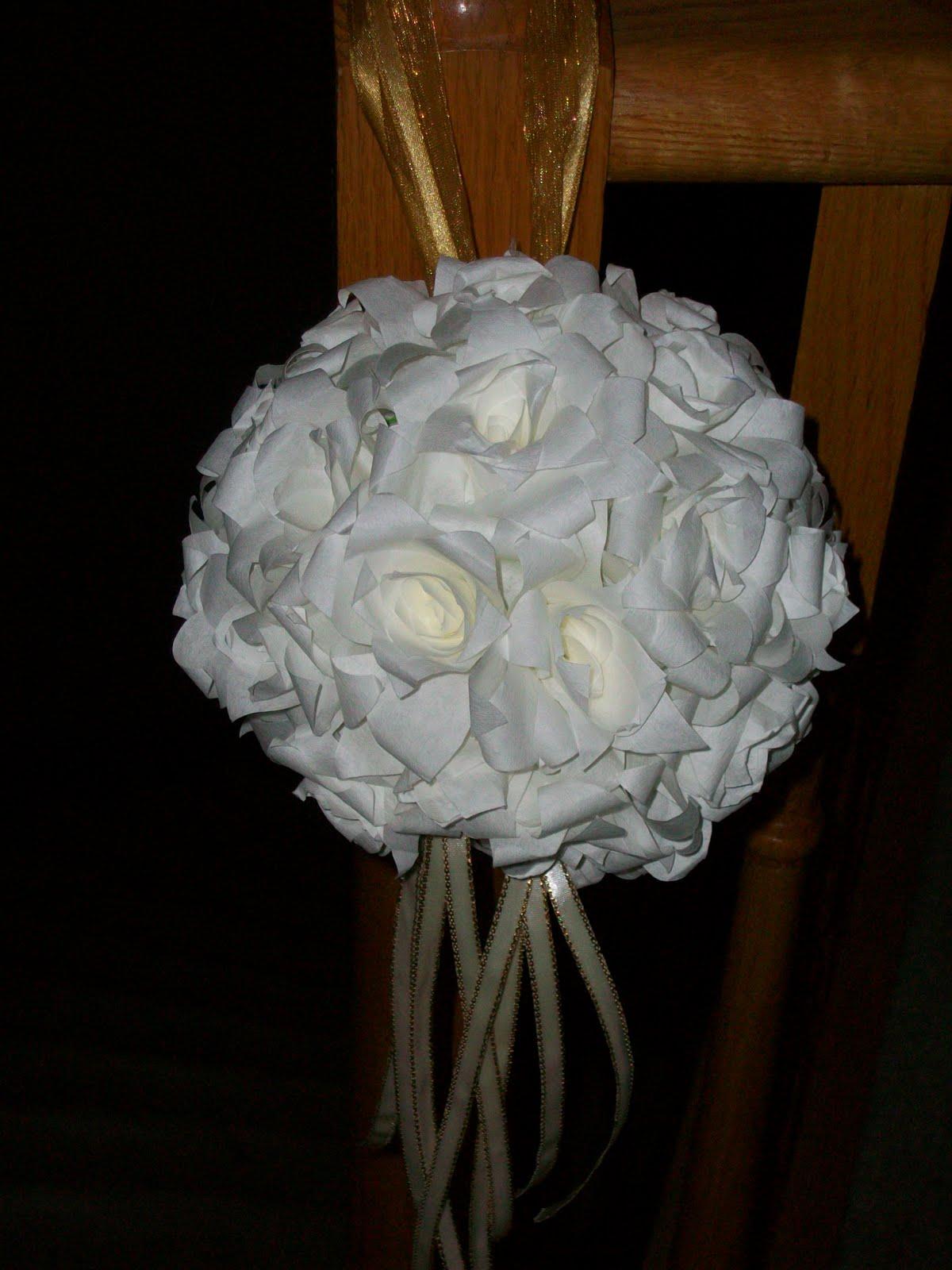 Paper Roses Diy 4 Pomander Kissing Ball Wedding Flowers Made Easy