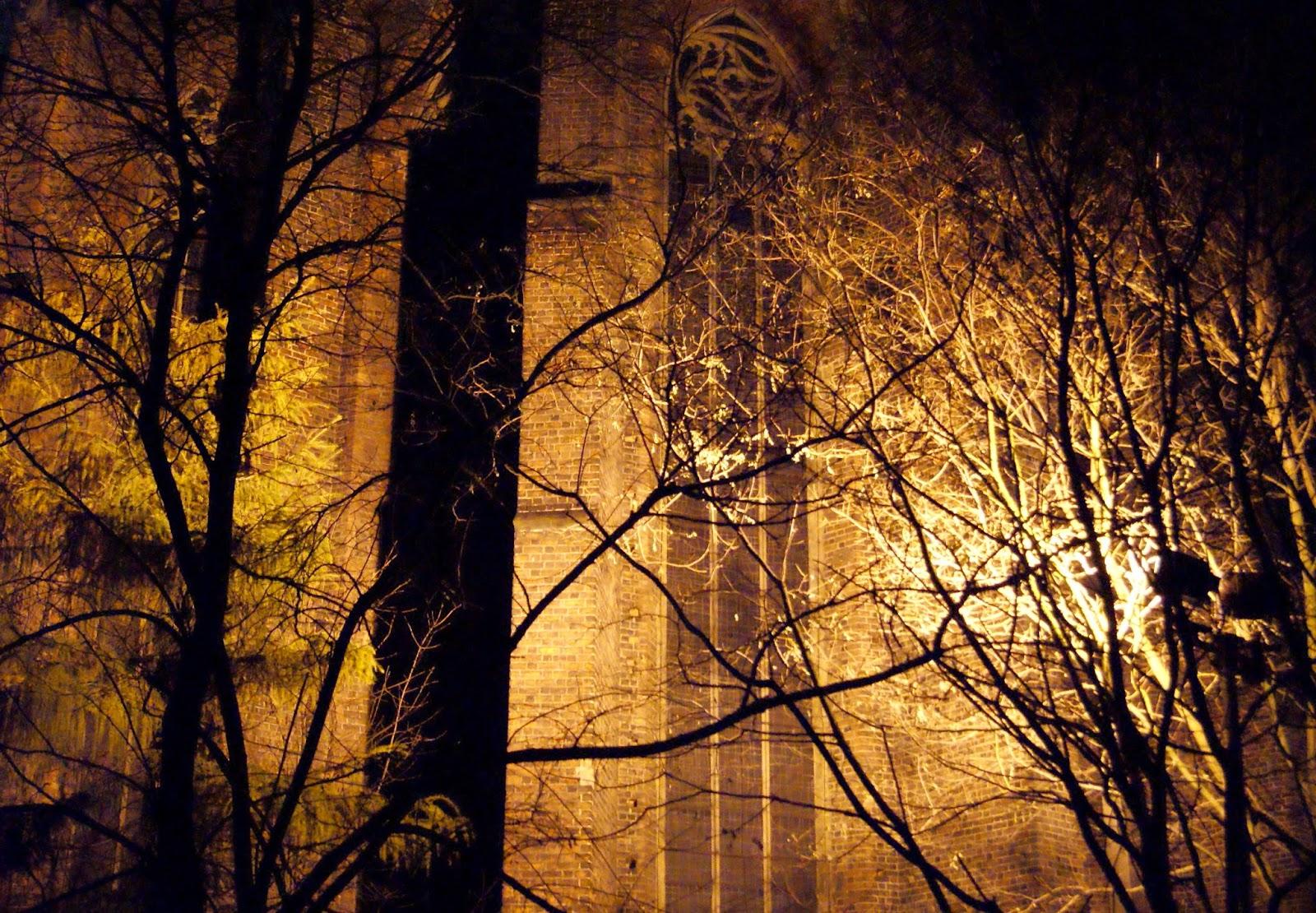 kościół NMP na Piasku Wrocław noc fotografia