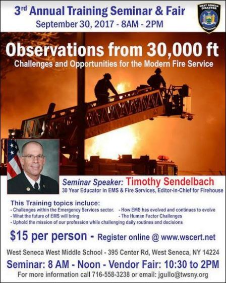 9-30 Annual Training Seminar, West Seneca, NY