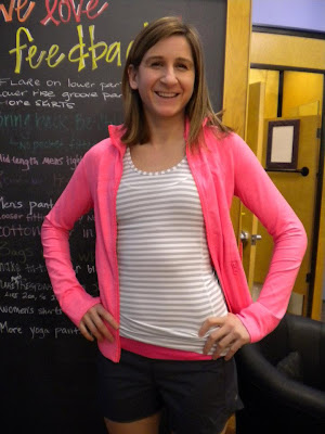 lululemon silver stripe stay on course tank and flash define jacket