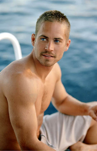 paul walker shirtless on a boat