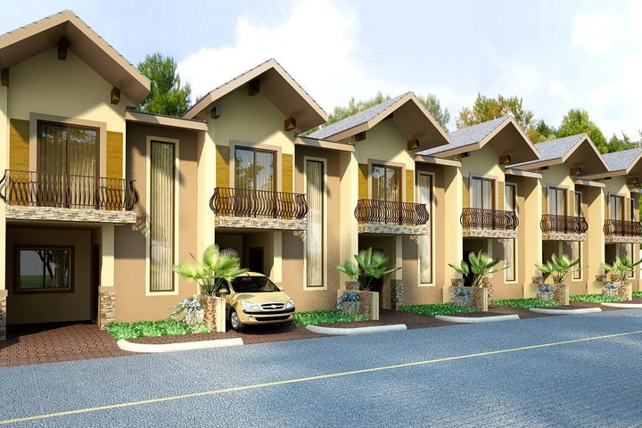 3d front paksitan private houseing society for Townhouse exterior design philippines