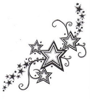 pretty star and flower tattoos