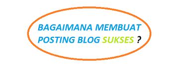 cara agar blog sukses daliam pemasaran online