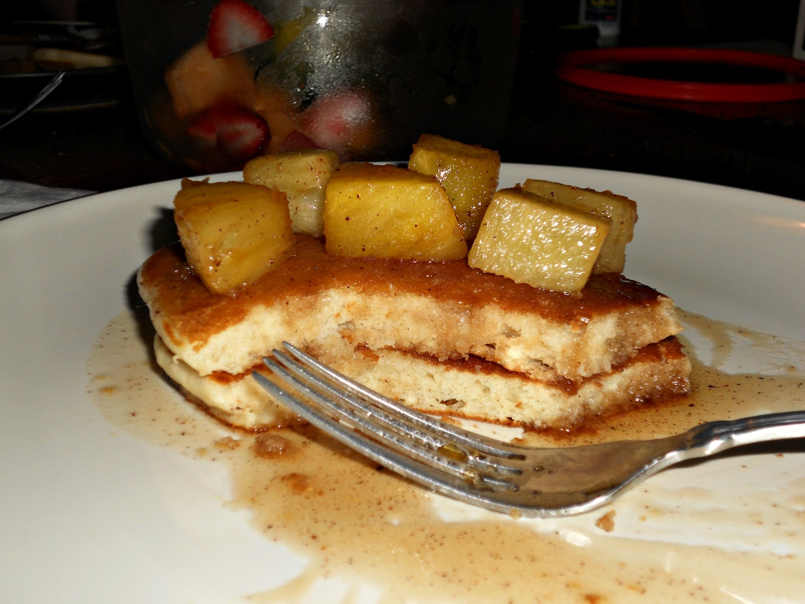 Pineapple Upside Down Cake Pancake Mix