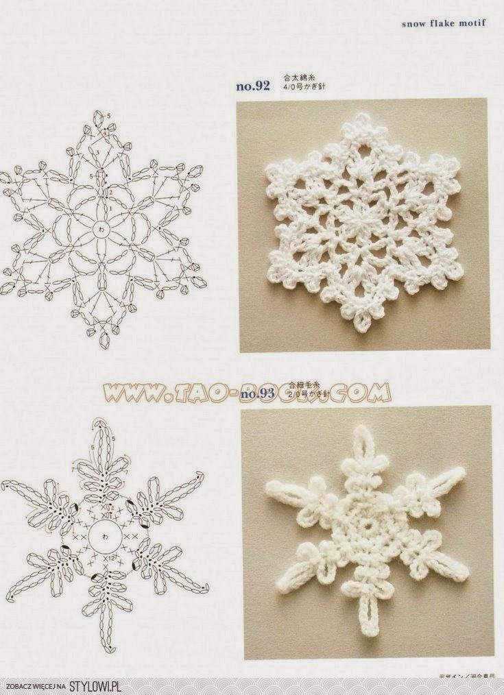 Asombroso Copo De Nieve Patrón De Crochet Manta Regalo - Ideas de ...