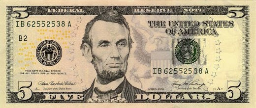 http://en.wikipedia.org/wiki/United_States_five-dollar_bill