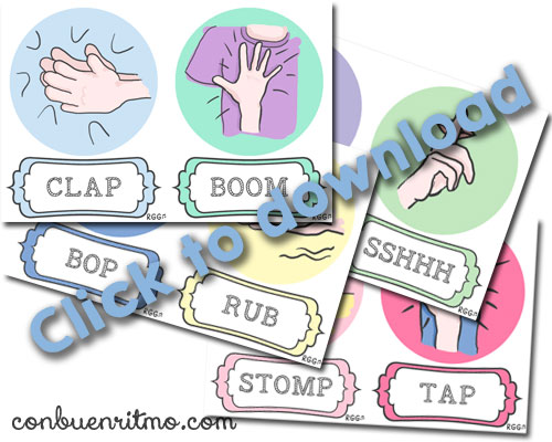Download the body percussion flashcards