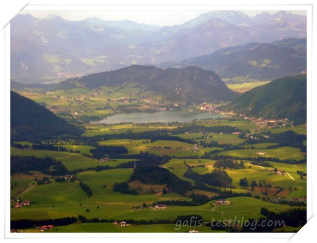 Österreich - Unterberghorn Kössen mit Blick auf den Walchsee