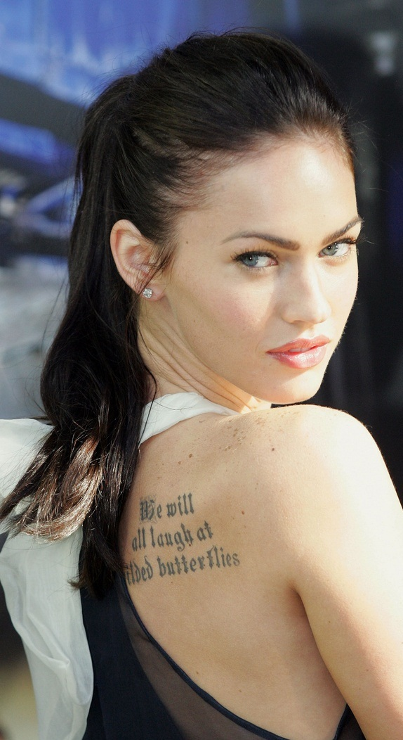 Meagan Fox Tattoo, Megan Fox Tattoos,