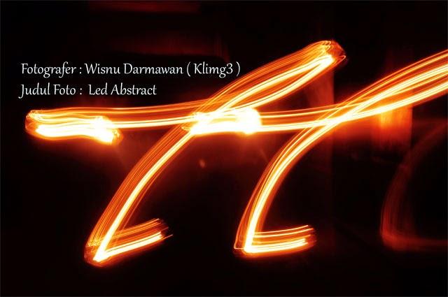 Judul Foto : Led Abstract | Fotografer : Wisnu Darmawan ( Klikmg3 )