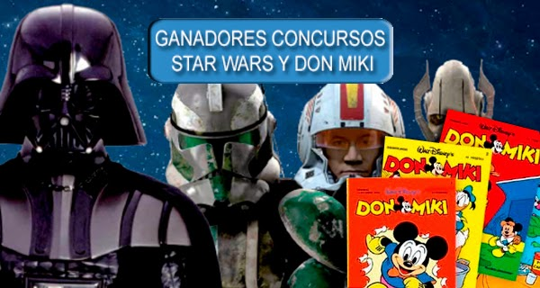 Ganadores concursos Don Miki y Star Wars