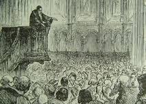 Calvino pregando na Igreja de São Pedro em Genebra