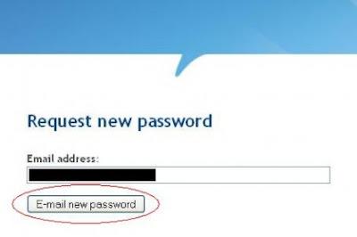 Request New Password Infolinks