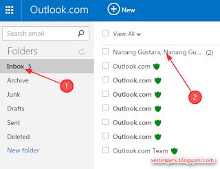 Cara membalas email di hotmail (Outlook) terbaru