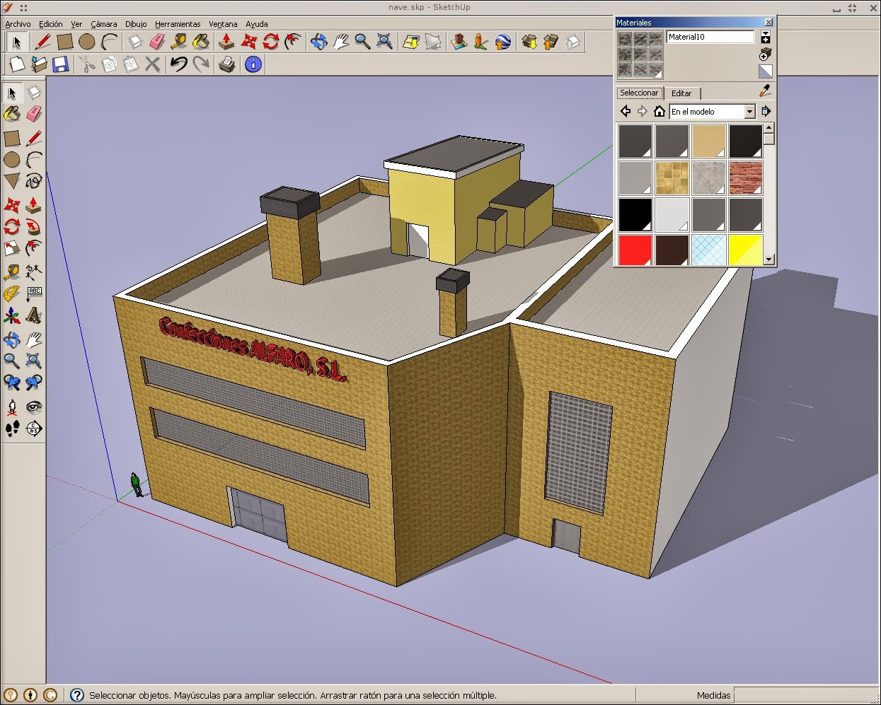 Dise o y cad en linux sketchup un vistoso 3d bajo for Programas de diseno 3d online
