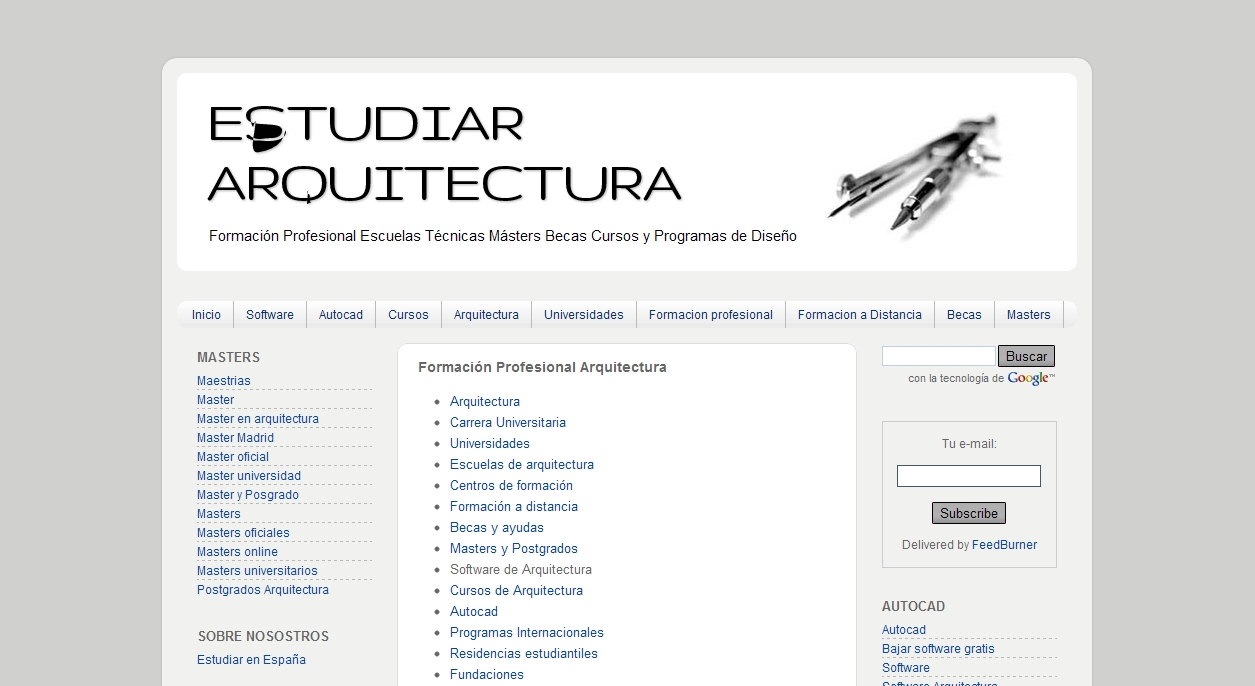 Directorio de arquitectura estudiar arquitectura for Universidades de arquitectura en espana