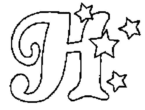Desenhos Para Colori letras do alfabeto letra H desenhar