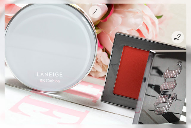 laneige bb cushion foundation urban decay afterglow blush bang