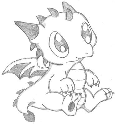 Cute Anime Chibi Dragon Drawings